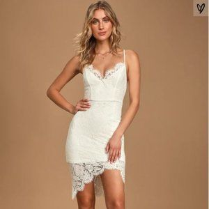 Lulu's White Lace Bodycon